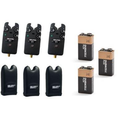 Delkim - EV Plus Alarms x3 + Hard Cases