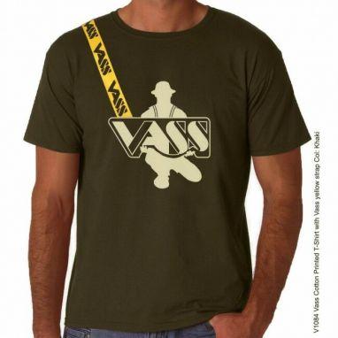 VASS - Yellow Strap Printed T-shirt