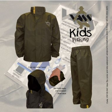 VASS - Junior/Kids Khaki Waterproof Jacket & Trousers