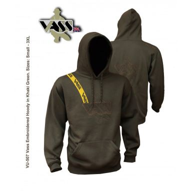 VASS - Embroided Hoody With Yellow Strap - Khaki edition