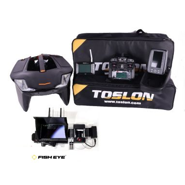 Toslon - X Boat With X Pilot GPS And TF500 Fishfinder And Winch Cam Pro