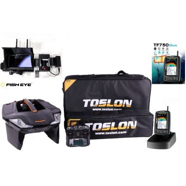 Toslon - X Boat With TF750 Duo GPS Autopilot Fishfinder 3D Mapping And Winch Cam Pro