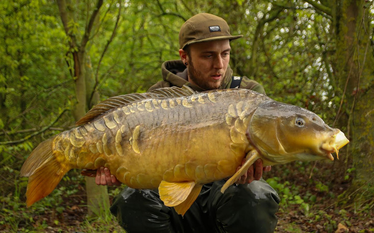 Harry Ridler with a 48lb+ Carp